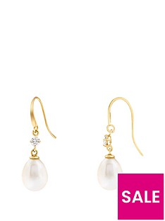 love-pearl-9ct-yellow-gold-9x7mm-oval-freshwater-pearl-cubic-zirconia-hook-earrings