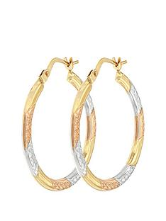 bracci-bracci-9ct-3-col-diamond-cut-24mm-hoop-creole-earrings