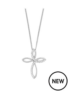 the-love-silver-collection-sterling-silver-rhodium-plated-cubic-zirconia-infinity-cross-pendant