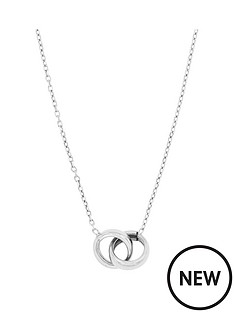 the-love-silver-collection-sterling-silver-rhodium-plated-interlocking-rings-neckalce