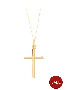 bracci-bracci-9ct-yellow-gold-cross-pendant-on-curb-chain