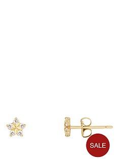 love-gold-9ct-yellow-gold-cubic-zirconia-flower-kids-earrings