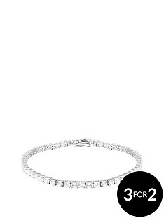 the-love-silver-collection-sterling-silver-round-mini-cz-tennis-bracelet