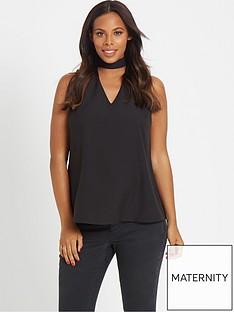 rochelle-humes-maternity-blouse-ndash-black