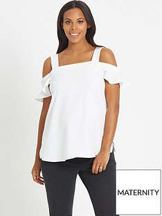 rochelle-humes-maternity-top-ndash-white