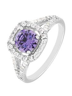 the-love-silver-collection-sterling-silver-clear-and-purple-cubic-zirconia-cluster-ring