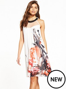 little-mistress-floral-ink-print-shift-dress