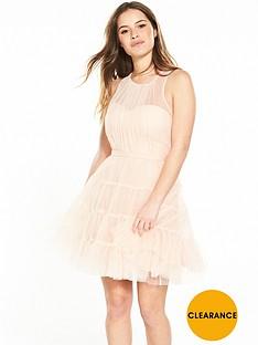 little-mistress-petite-mesh-skater-dress