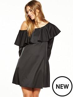 fashion-union-one-sholder-ruffle-dress