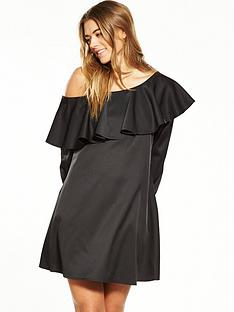fashion-union-one-shoulder-dress-ndash-black