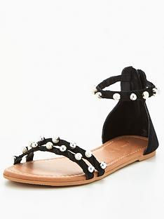 v-by-very-abbie-real-suede-pearl-detailnbspflat-sandal-black