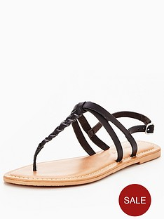 v-by-very-caitlyn-plaited-toepost-flat-sandal-black