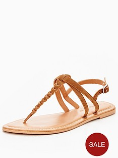 v-by-very-caitlyn-plaited-toepost-flat-sandal-tan
