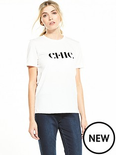 selected-femme-chic-t-shirt-white