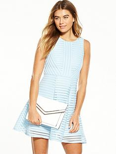 ax-paris-mesh-fit-and-flare-dress