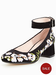 office-office-flashback-w-block-heel-embroided-court