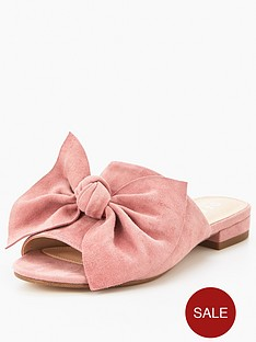 office-simone-with-bow-flat-mule