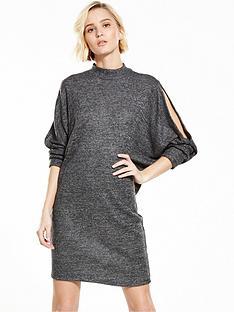 river-island-split-shoulder-dress