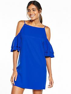 glamorous-cold-shoulder-dress