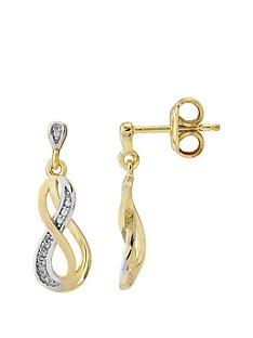 love-diamond-sterling-silver-gold-plated-diamond-set-infinity-earrings