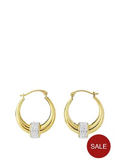 love-gold-9ct-gold-crystal-detail-hoop-earrings