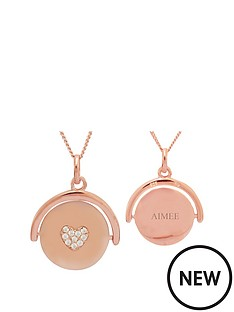 keepsafe-sterling-silver-rose-gold-plated-cubic-zirconia-heart-personalised-spinner-pendant