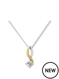 love-gem-9ct-gold-and-sterling-silver-cubic-zirconia-twist-pendant