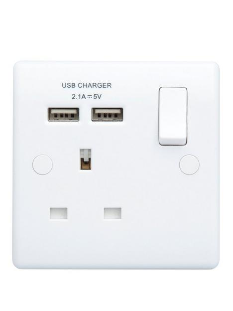 british-general-white-single-switched-socket-with-x2-usb-sockets-31a