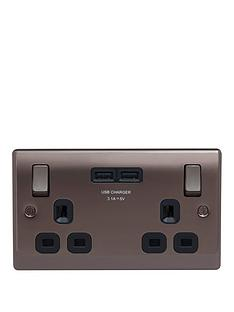 british-general-black-nickel-double-switched-socket-with-x2-usb-sockets-31a