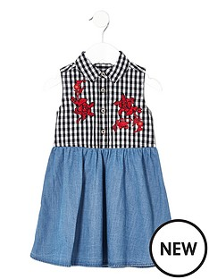 river-island-mini-girls-gingham-hybrid-dress