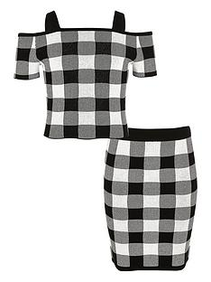river-island-girls-black-gingham-print-bardot-top-outfit