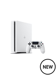 playstation-4-slim-500gbnbspwhite-consolenbspwith-optional-extra-controller-andor-12-months-playstation-network
