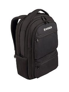 wenger-fuse-16-inch-laptop-20-litre-backpack-padded-laptop-compartment-with-ipadtablet-ereader-pocket-black