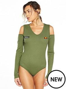 ellesse-ellesse-potel-cold-shoulder-rib-bodysuit