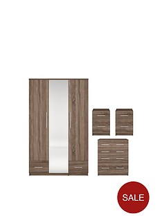 cologne-wood-effect-4-piece-package-3-door-2-drawer-mirrored-wardrobe-4-drawer-chest-2-bedside-cabinets-buy-and-save