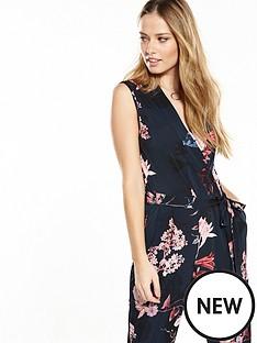wallis-wallis-navy-blossom-wrap-jumpsuit