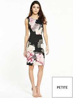 wallis-petite-rose-scuba-dress