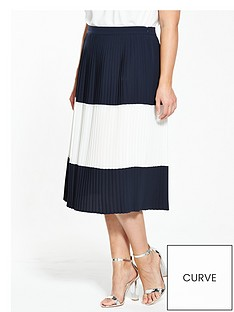 v-by-very-curve-curve-colour-block-pleat-midi-skirt