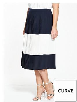 v-by-very-curve-curve-colour-block-pleat-midi-skirt