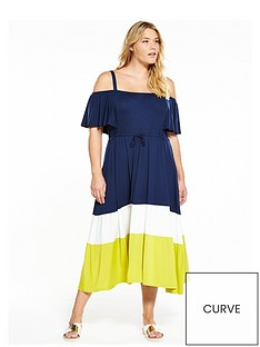 v-by-very-curve-curve-jersey-colour-block-midi-dress