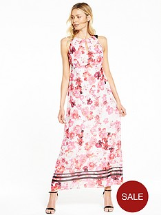 wallis-pink-posie-maxi-dress