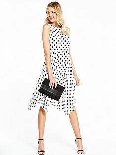 wallis-spot-hanky-hem-dress-ivory