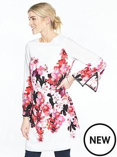 wallis-wallis-pink-posie-print-tunic