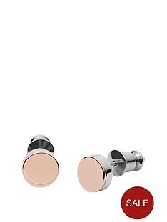 skagen-skagen-2-tone-elin-metal-disc-drop-earring