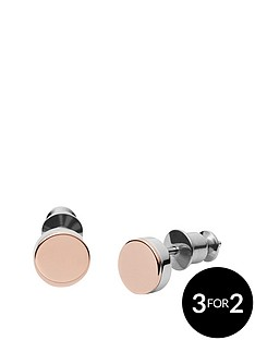 skagen-skagen-2-tone-elin-metal-disc-drop-earring