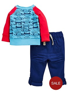 ladybird-baby-boys-car-ls-tee-and-woven-trouser-set