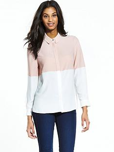 miss-selfridge-colourblock-shirt