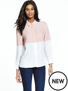 miss-selfridge-colourblock-shirt