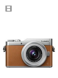 panasonic-dc-gx800kebt-lumix-compact-system-mirrorless-camera-with-12-32mm-lens-brown
