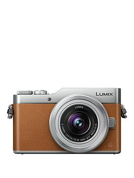 panasonic-lumix-dmc-gx800-compact-system-camera-with-12-32mm-standard-zoom-camera-lens-tan
